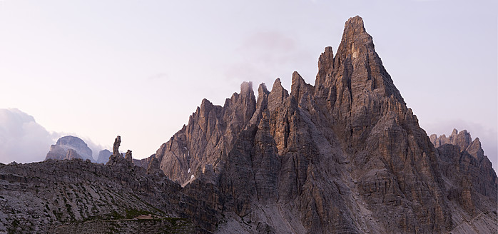 Europe, Italy, View to mountain Paternkofel at National Park of sesto Dolomities - BSCF000117