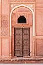 India, Uttar Pradesh, Agra, View of wooden door Red Fort - FOF004119
