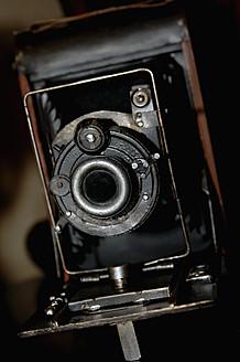 Close up of antique camera - LRF000549