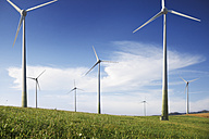 Germany, Wind turbine on landscape - WBF001291
