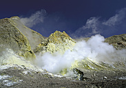 New Zealand, Steam and sulfur in Volcanic Crater - WBF001221