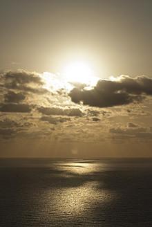 Italy, Sardinia, Nebida, View of Mediteranian Sea at sunset - KAF000011