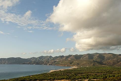 Italy, Sardinia, Iglesias, View of Mediterranean Sea - KAF000013