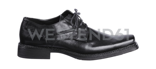 Black footwear on white background, close up - WBF001630
