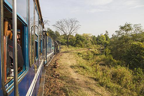 India, Tamil Nadu, Nilgiri Mountain Railway connecting Mettupalayam and Ooty - MBE000552
