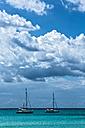 Spain, Mallorca, View of sail boats at Es Trenc - MAEF004898