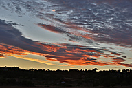 Spain, Mallorca, View of cloudy sky at sunset - MAEF004909