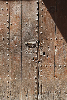 Spain, Close up of wooden door - JMF000204