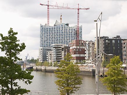 Germany, Hamburg, View of Elbe Philharmonic Hall - BSCF000153