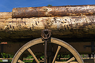 Germany, Bavaria, Close up wooden cart - TCF002885