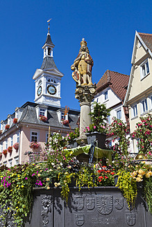 Germany, Baden, Wuerttemberg, View of Emperor Joseph Fountain at Aalen - WDF001301