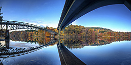 UK, Scotland, Bridge at Loch Faskally - SMAF000017