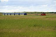 Germany, Lower Saxony, Train passing through Wangerooge - MHF000026