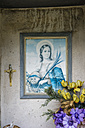 Italy, Picture frame of Madonna with cross - MIRF000506