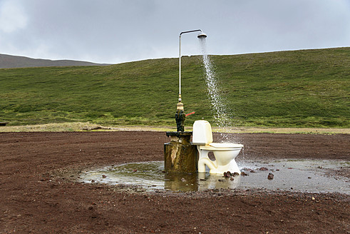 Sculpture with shower and toilet at Iceland - HL000013