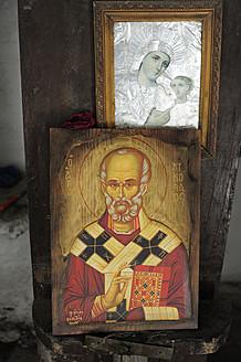 Greece, Crete, Paintings in Greek Orthodox Church - MIZ000028