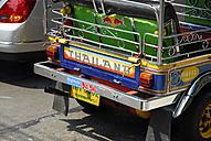 Thailand, Bangkok, Back of cab and Tuk Tuk Taxi - MIZ000111
