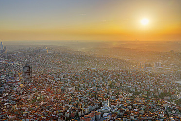 Europe, Turkey, Istanbul, View of financial district at Levent - SIEF003210