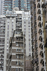China, Hong Kong, Residence towers and high-rise buildings in Chung Wan at Central District - MIZ000179