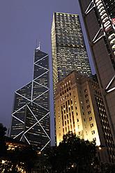 China, Hong Kong, Bank of China Tower and Old Bank of China Building among other skyscrapers in Chung Wan - MIZ000198