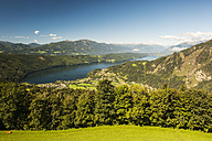 Austria, Carinthia, View of Millstatter See - HHF004313