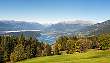 Austria, Carinthia, View of Millstatter See - HHF004314