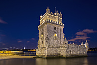 Portugal, Lisbon, View of Belem Tower - FOF004704