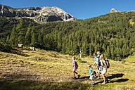 Austria, Salzburg, Family walking on mountains at Altenmarkt Zauchensee - HHF004381