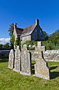 England, Dorset, West Lulworth, View of old gravestones - WD001452