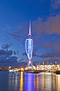 England, Hampshire, Portsmouth, View of Spinnaker Tower at Gunwharf Quays - WD001483