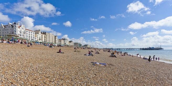 England, Sussex, Brighton, View of lifeguard at Brighton Pier - WDF001491