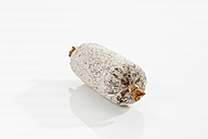 Hungarian Salami on white background, close up - CSF016954