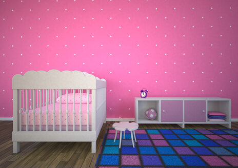 Empty nursery room with pink background - AL000012