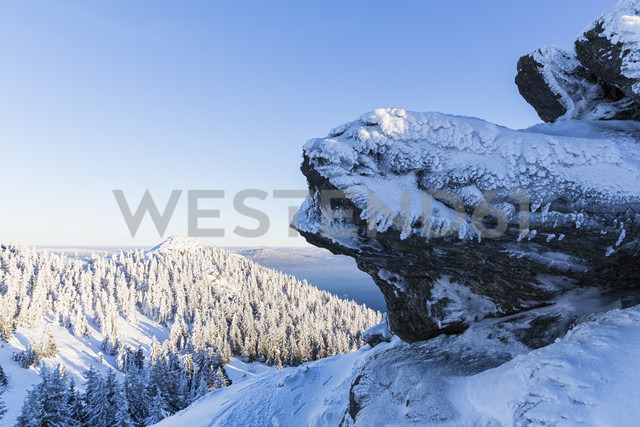 Germany, Bavaria, View of rock formation at Bavarian Forest - FOF004858