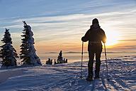 Germany, Bavaria, Mature woman hiking on Grosser Arber - FOF004862