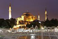 Turkey, Istanbul, View of Hagia Sophia at Ayasofya Meydani Square - SIE003360