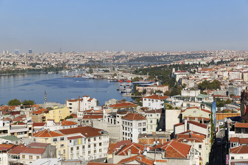 Turkey, Istanbul, View from Galata Tower to Golden Horn - SIEF003402