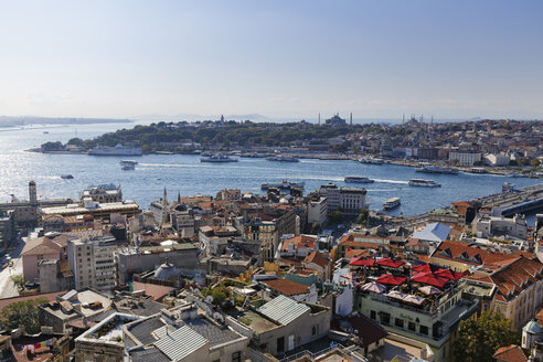 Turkey, Istanbul, View from Galata Tower to Golden Horn - SIEF003404