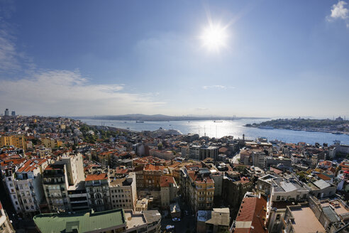 Turkey, Istanbul, View from Galata Tower with Bosphorus - SIEF003407