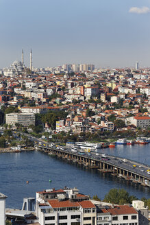 Turkey, Istanbul, View from Galata Tower and Fatih Mosque in background - SIE003413