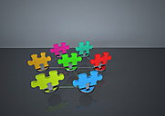 Illustration of puzzle network - ALF000031