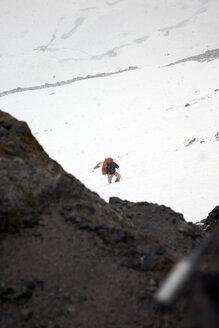 Austria, Man crossing alps - TK000086