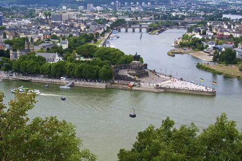 Germany, Rhineland Palatinate, Koblenz, View of German Corner - MH000134