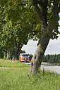 Germany, Bavaria, Camping bus on road - CR002342