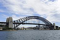 Australia, New South Wales, Sydney, View of harbour bridge - MIZ000283