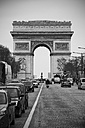 France, Paris, View of Arc de Triomphe and Champs Elysees street in winter - ON000005