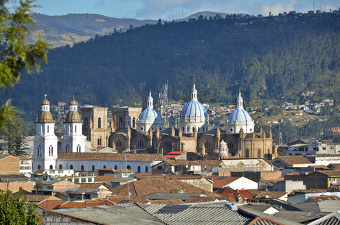 Ecuador, Cuenca, View of new cathedral - ON000109