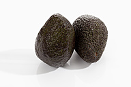 Aavocados ripe on white background, close up - CSF017970