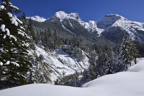 Austria, Tyrol, View of Karwendel mountains at Sonnjochkamm - ESF000352