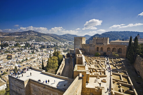 Spain, Andalusia, View of Province of Granada and old town - MS002865
